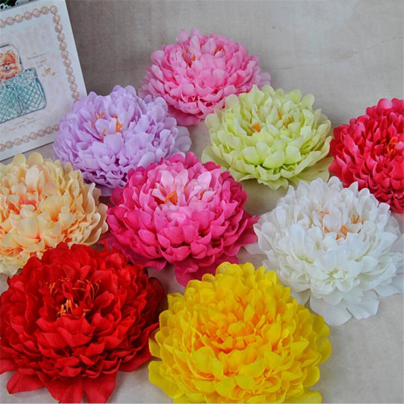 100pcs Artificial Big Size Peony Flower Heads Simulation Peony Flower for Wedding Christmas Party Decoration