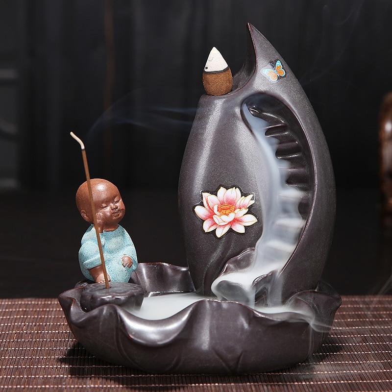 Free Shipping Little Alu Ceramic house incense burner