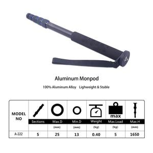 "Image 2 - Manbily A 222 165cm/65"" Portable Professional DSLR Camera Monopod&M 1 Base head ball Mini tripod Stand For Canon Nikon phone DV"