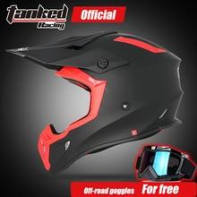 Trasporto libero di nuovo disegno TANKED CHE CORRE off road Moto motocross casco casco, biker sporco downhill strada, Equipaggiamento Protettivo