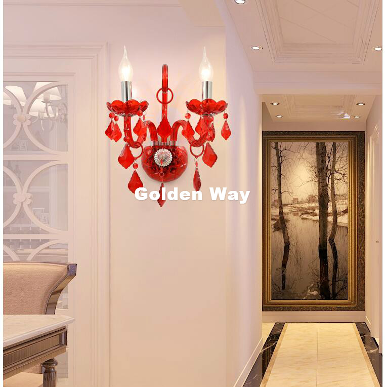 Free Shipping Colorful Crystal Design Wall Lamp K9 Crystal Wall Lamps Bedroom Headboard Bedside Lamp Wall Sconce Light Fixture стоимость