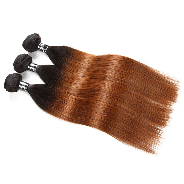 Straight Ombre Color Remy Human Hair Weave