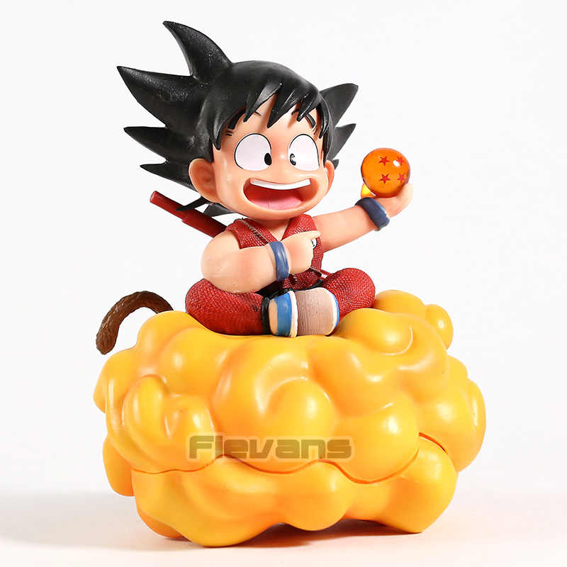 Dragon Ball Z Son Goku com Nimbus Infância Ver. Estátua PVC Figura Collectible Toy Modelo