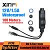 48V to 12V Waterproof PoE Splitter Adapter Injector Active POE connector IEEE802.3af 10/100M For IP Camera AP 12V/1.5A DC Output