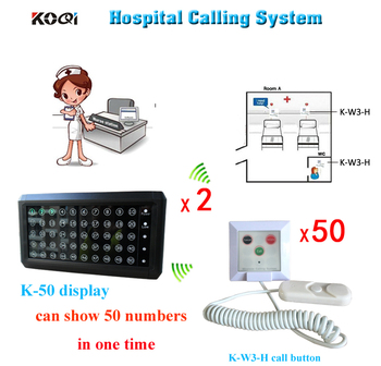 Nurse Call System 2 Receiver Display And 50pcs Push Button Call From Cord Free Shipping