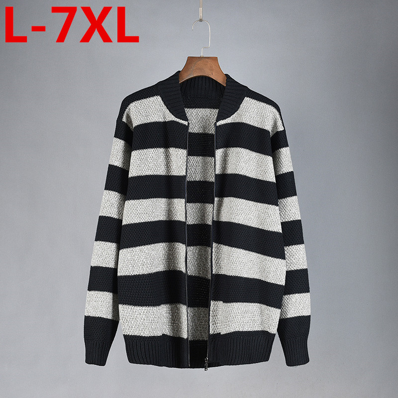 new plus size7XL Mens Knitted Sweaters Cardigans Collar Winter Wool Sweater Fashion Cardigans Male Sweaters Coat Mens Clothing