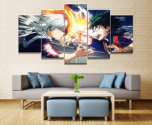 My Hero Academia Anime 5 Piece HD Print Home Painting Wall Art Canvas Modern Decorative Art For Living Wall Art Painting Artwork цена