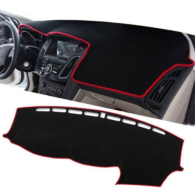 רכב לוח מחוונים כיסוי מחצלת להגן על כרית כיסוי רכב אביזרי עבור LHD פורד פוקוס 2 3 2017 2016 2015 2014 2013 2012 2011 2010 2009