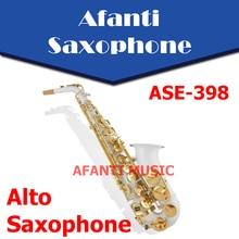 Afanti Music Eb tone /  Gold  finish Alto Saxophone (ASE-398)