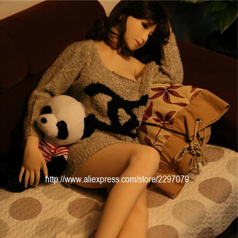 Buy New 156cm adult full solid Japanese silicone sex dolls toy men skeleton realistic flat chest TPE Asian Japan head oral sexy
