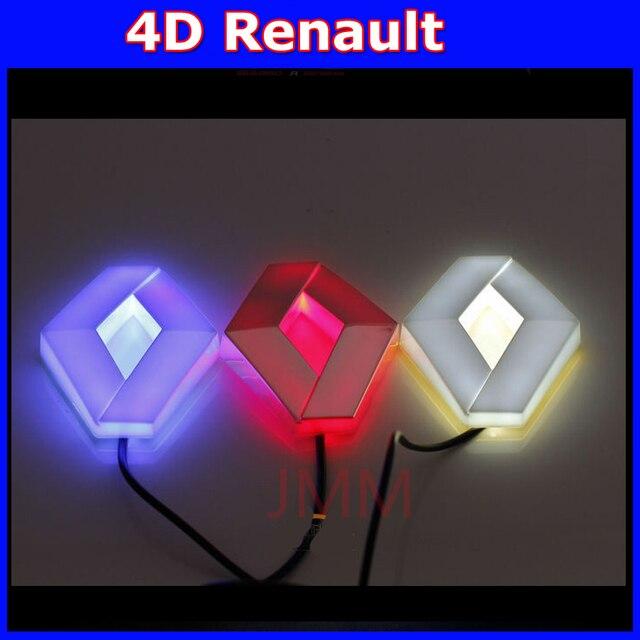 Авто renault 4D логотип СВЕТОДИОДНЫЙ свет Холодный свет логотип лампы украшение эмблема для renault KOLEOS Megane широта знак стикер лампы