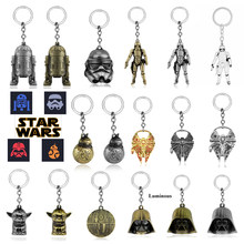 Star Wars Portachiavi Film Collezioni Portachiavi Astronave Yoda Robot BB-8 BB8 Darth Vader Storm Trooper Anello Chiave Trinket(China)