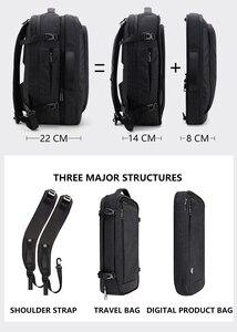 Image 2 - Grande capacidade 17 polegada portátil mochila multifuncional à prova dwaterproof água dos homens de negócios viagem volta pacote preto masculino qualidade sacos computador