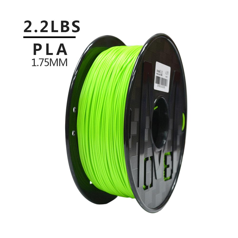 PLA Filament 1.75mm For 3D Printer 1KG per Roll Green For Dropshipping 1
