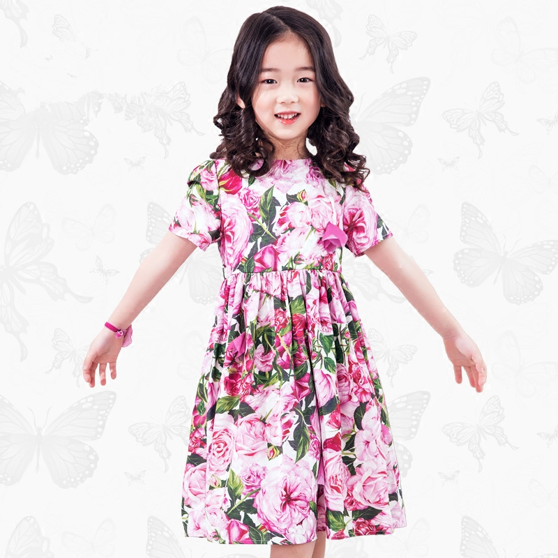 W.L.Monsoon Brand Children's wear 2018 summer New Girl dress Girl Floral dress Fresh Princess dress женское платье dress new brand 2015 thetest summer dress
