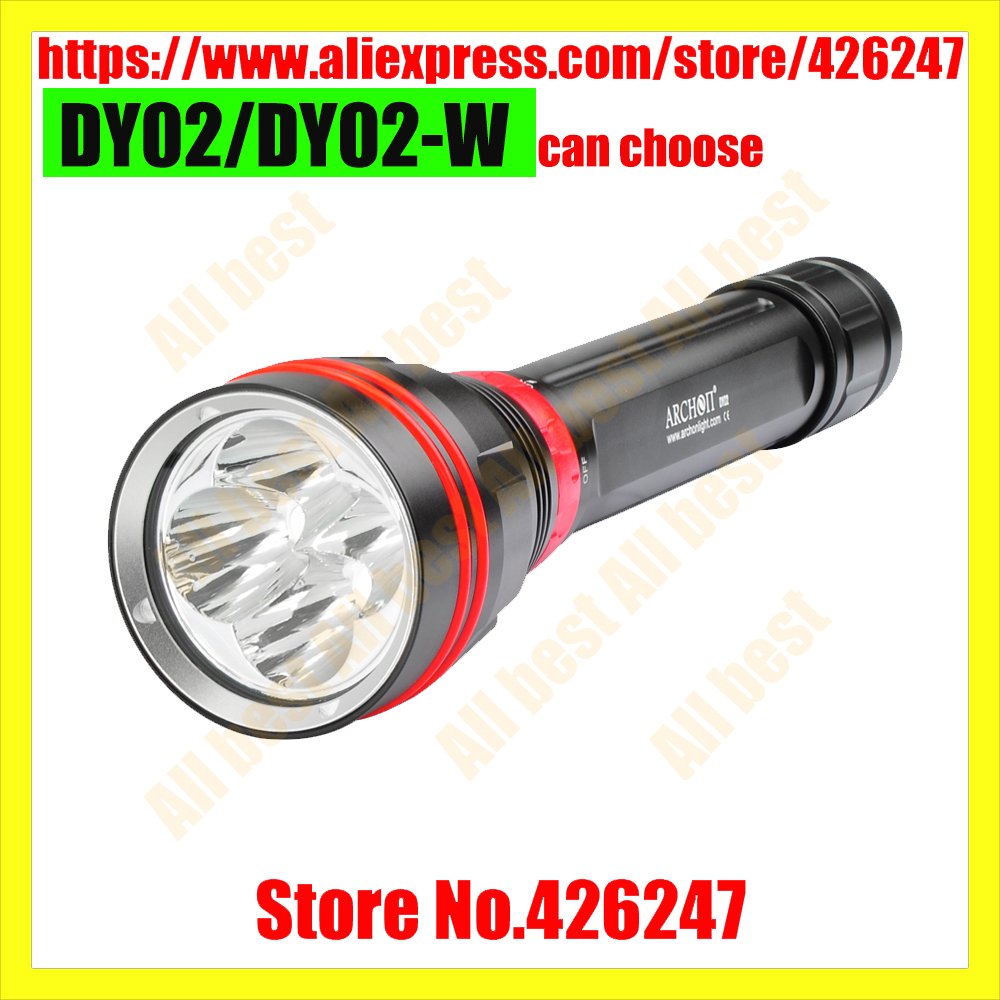 100% Original ARCHON DY02 DY02-W Diving Flashlight Video Light 4000 lumens 4 x CREE XP-L LED Torch By 26650 Battery sport car style 2 led white light flashlight keychain w sound effect red 4 x lr41