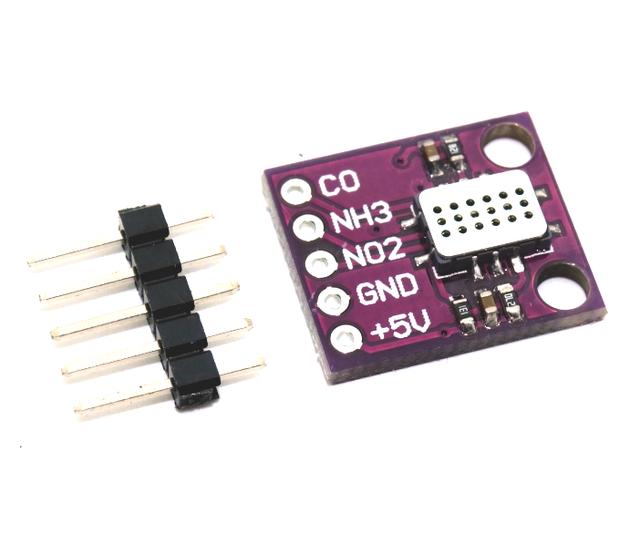 El envío gratuito! 1 unids/lote MICS-6814 CO ppm NH3 sensor de óxidos de Nitrógeno Gas VOC calidad Del Aire