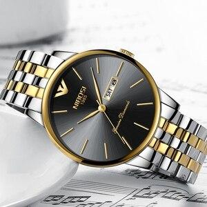 Image 3 - NIBOSI Simple Style mode hommes montre à Quartz de luxe semaine Date en acier bande étanche décontracté hommes montre bracelet Relogio Masculino