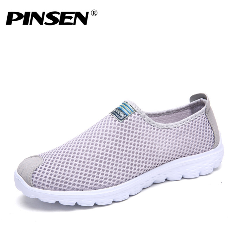 PINSEN 2018 Women Shoes Summer Breathable Mesh Sneakers Shoes Ballet Flats Ladies Slip On Flats Loafers Shoes Woman Moccasins summer women flat platform shoes woman casual mesh breathable slip on zapatos mujer ladies flats moccasins plus size 35 42 lx5