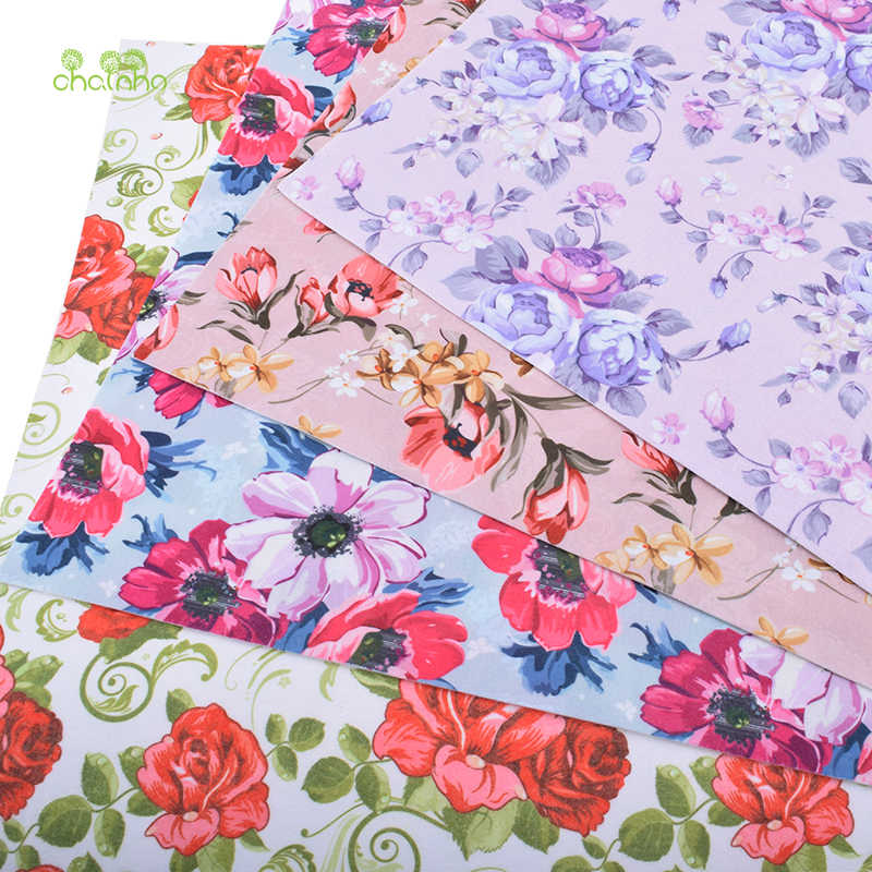 Chainho Floral Soft Felt Fabric,Printed Polyester NonWoven Felt Cloth,For Home Decoration Or Sewing Dolls&Crafts,40cmx45cm/piece
