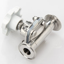 Санитарный мембранный клапан ss316l зажим из нержавеющей стали