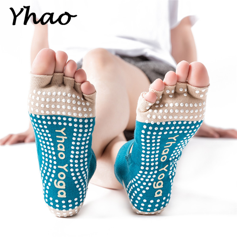 New Arrival Yhao Brand Yoga Women's Toes Socks Anti-Slip Socks For Pilates