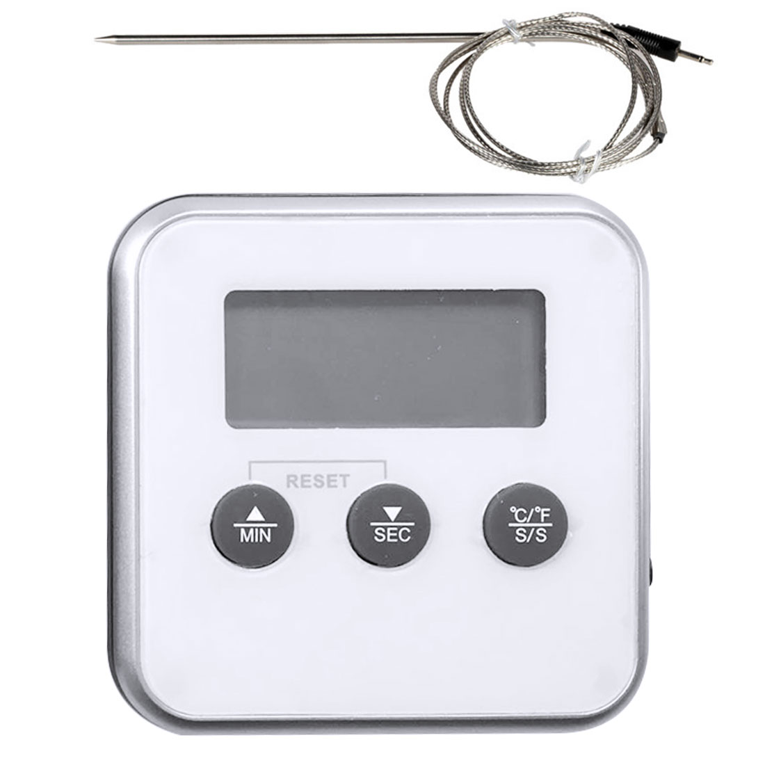 LCD Digital Meat Barbecue BBQ Cooking Thermometer Timer Remote Probe Oven Kitchen Food Thermometer With Probe 1 0 lcd digital food thermometer 1 x ag13