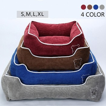 Pet Bed for Small Medium Large Dog Crate Pad Deluxe Soft Bedding Moisture Proof Bottom for All Seasons Puppy Dog House Pet Bed 1