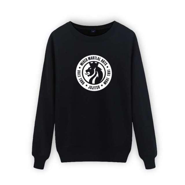MIXED MATERIAL ARTS MMA Black 3xl Sweatshirt Men Brand Famous in MMA Hoody Solid Slim Hoodies Men Sweatshirts xxs Gray White