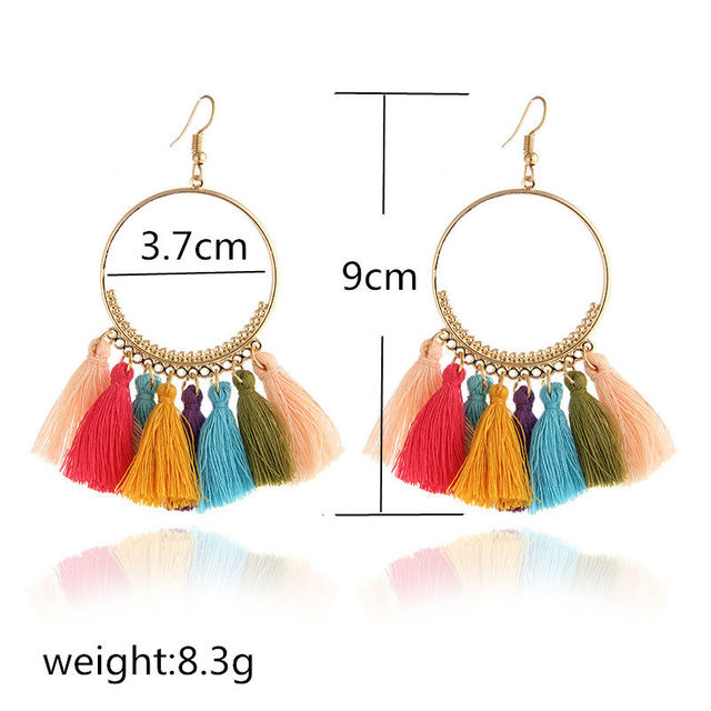 Fringed Bohemian Handmade Earrings