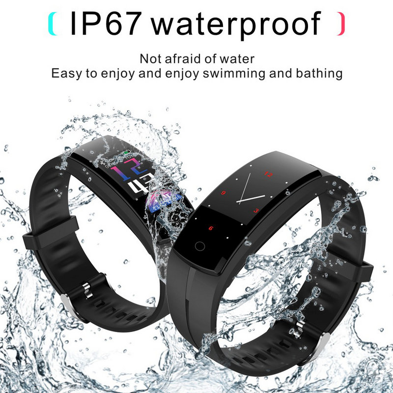 цена QS100 Smart bracelet band Blood pressure Heart rate Monitor Smart watch fitness Tracker bracelet Android IOS smart wristbands