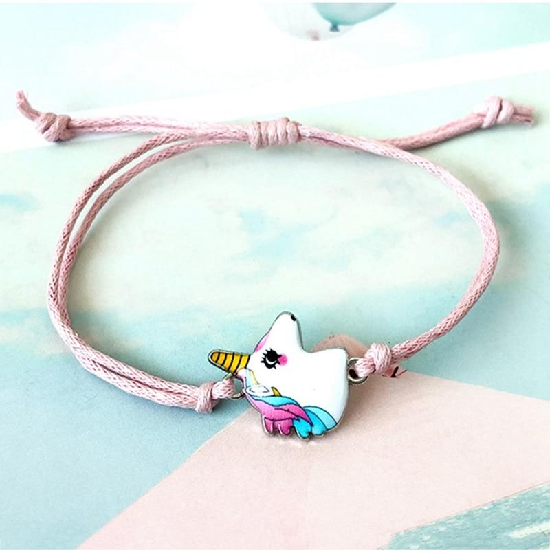 Beads Bracelet Unicorn Fashion Jewelry Crystal Adjustable Women Child Cute Gifts Birthday