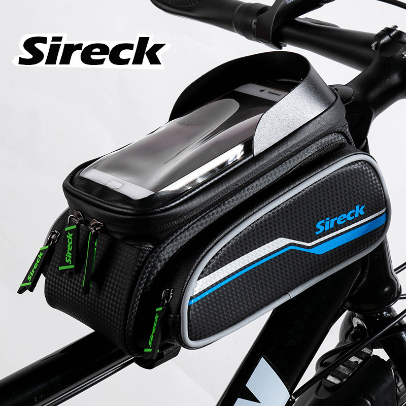 Sireck 3 Style 6 Inch Touchscreen Waterproof Reflective Road Bike Phone Holder Bicycle Front Tube Smart Mobile Phone Holder