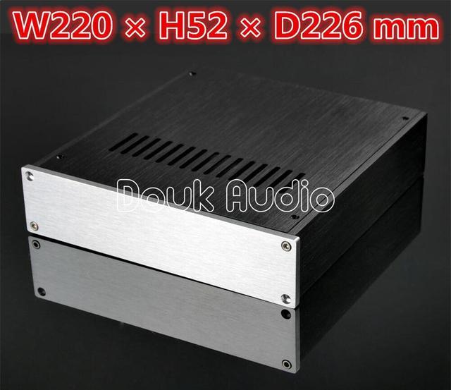 Douk Audio Aluminium Pre Amp Case Amplifier Chassis DAC Cabinet HiFi  Enclosure