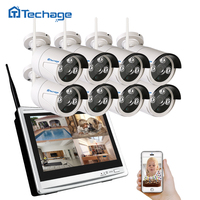 Techage Wireless Home Security Camera CCTV System 960P With 11 7 LCD Monitor 8 Channel 1