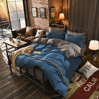Solid Color Button Style Grinding Wool Bedding Set Queen King Size Bed Hometextile Bedclothes Duvet Cover