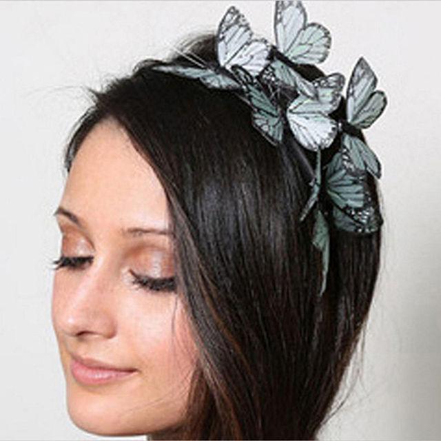 Fashion cloth Cloth Butterfly hairbands Simulation High Quality Headband Hair Accessories