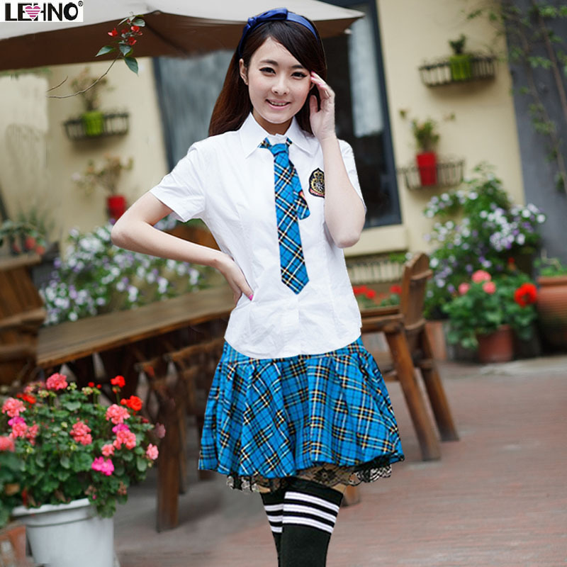 Women Girl JK Short Sleeve School Sailor Uniform Dress Cosplay Costume 6 Colors