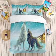 Wolf Animal 3D Bedding Set Children Room Decor Duvet Covers Pillowcases Digital Print Comforter Bedclothes