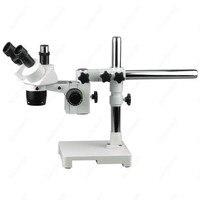 Aletler'ten Mikroskoplar'de Trinoküler Stereo Mikroskop AmScope Malzemeleri 20X 30X 40X 60X Trinoküler Stereo Mikroskop Tek Kol Bom Standı