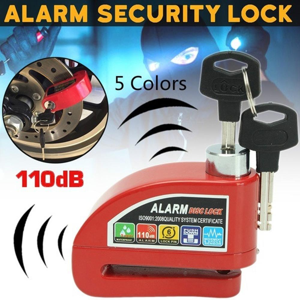Motorcycle Mountain Bicycle Disk Security Brake Safety Anti-Theft Alarm Lock