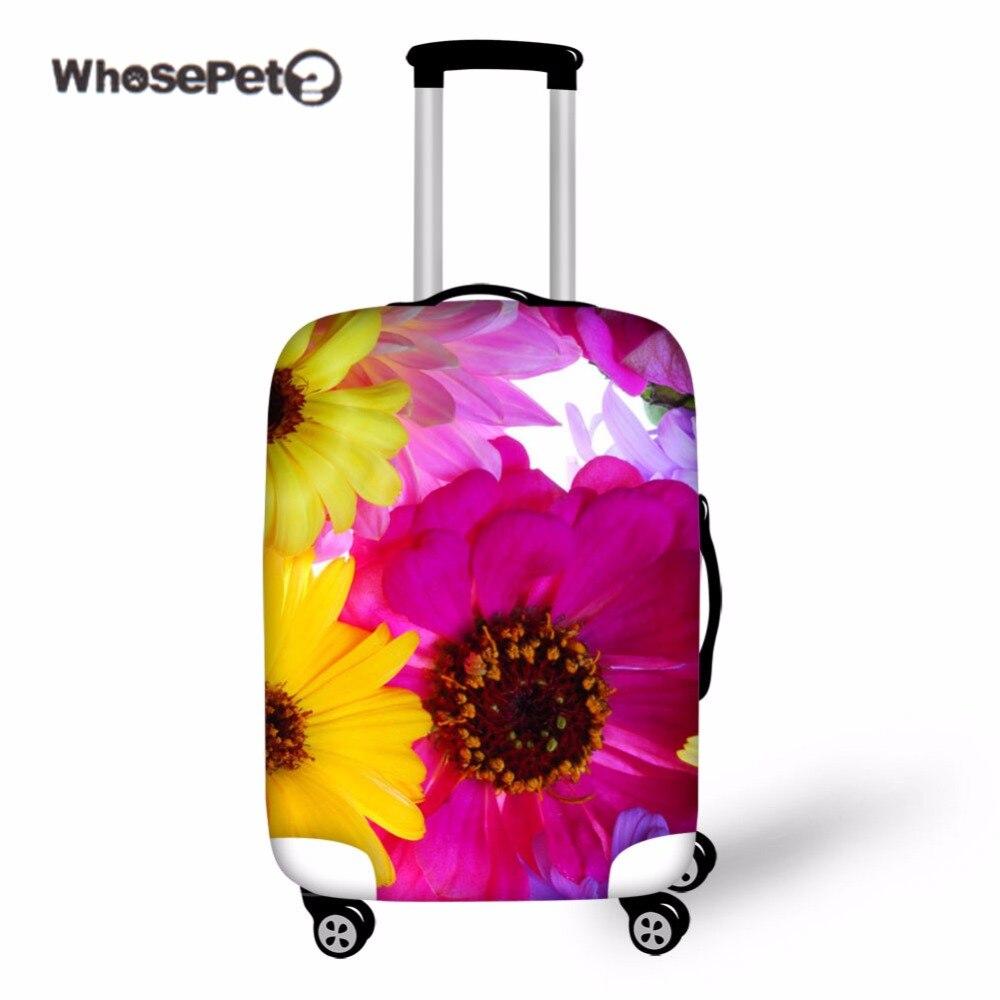 Whosepet цветы чемодан Крышка протектор Чемодан эластичные Пыль Покрывает с молнией случае протектор Портативный Туристические товары Новый
