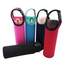 5 цветов тканевый термос чашка мешок бутылки для воды крышка рукав Перевозчик теплый теплоизоляция бутылки для воды сумки