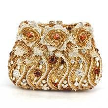 Neue 2016 luxus diamant kristall abendtaschen damen handtasche braut hohl kupplung kette hochzeit prom abendessen clutch handtasche Q15