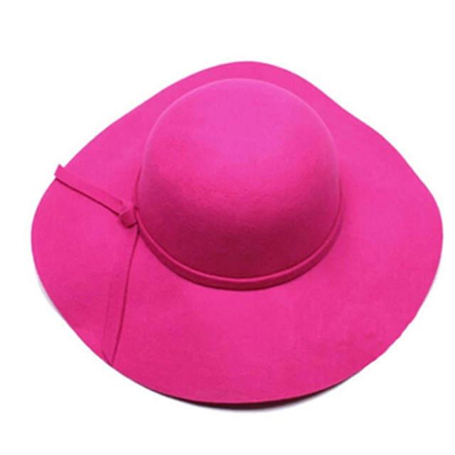 2017 HOT! Verão Crianças Floppy Chapéu chapeu feminino Suave Lã Aba Larga  Sentiu Chapéus Fedora 9e5dd52f452