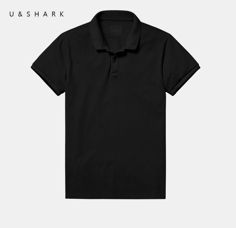 2016 U&Shark Short Sleeve Casual   Polo   Shirt Men Brand Clothes Regular England Style 100%Cotton Quick Dry Fashion Black   Polo   Male