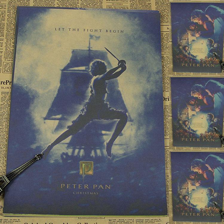Vintage Poster Peter Pan retro poster poster kinderzimmer bar ...