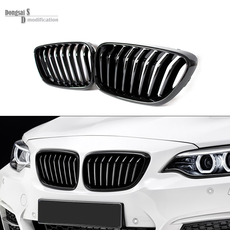 F22 ABS front Kidney Gloss Black Car Styling Racing Grills for BMW 2 Series F23 2 Door 218i 220i 228i M235i & F87 M2 2014 2015 abs rear trunk spoiler wing lip for bmw 2 series f22 228i m235i 220i 2014 2015 car styling