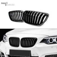 F22 ABS front Kidney Gloss Black Car Styling Racing Grills for BMW 2 Series F23 2 Door 218i 220i 228i M235i & F87 M2 2014 2015