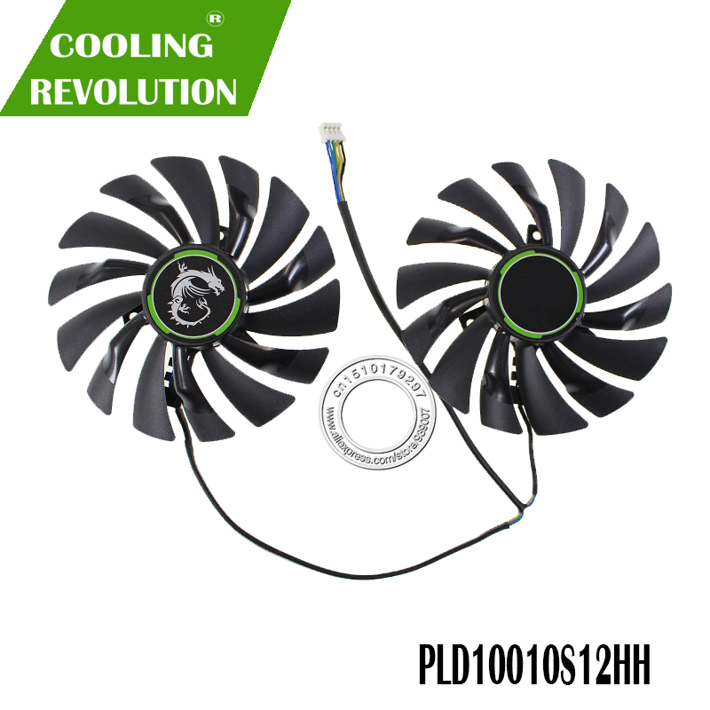 95MM 95x95x12mm Graphics Card <font><b>Fan</b></font> FOR MSI GEFORCE <font><b>GTX</b></font> <font><b>960</b></font> GAMING 100ME PLD10010S12HH DC12V 0.40A 4PIN image